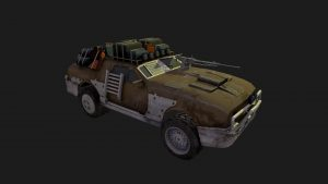 3D Game Asset - Post Apocalyptic Ford Mustang for Game Development