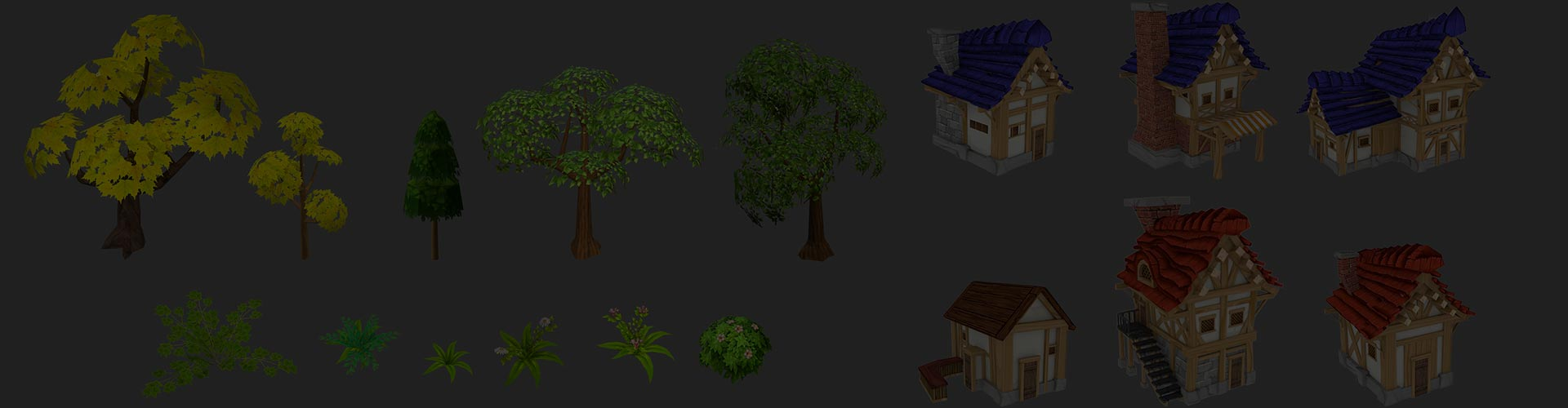3D Low-Poly Handpained Asset for Game Development Company