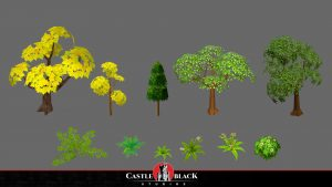 3D Low-Poly Handpained Foliage for Game Development Company