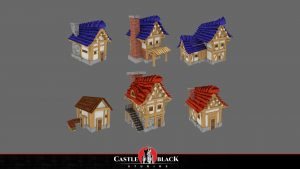 3D Low-Poly Handpained Houses for Game Development Company