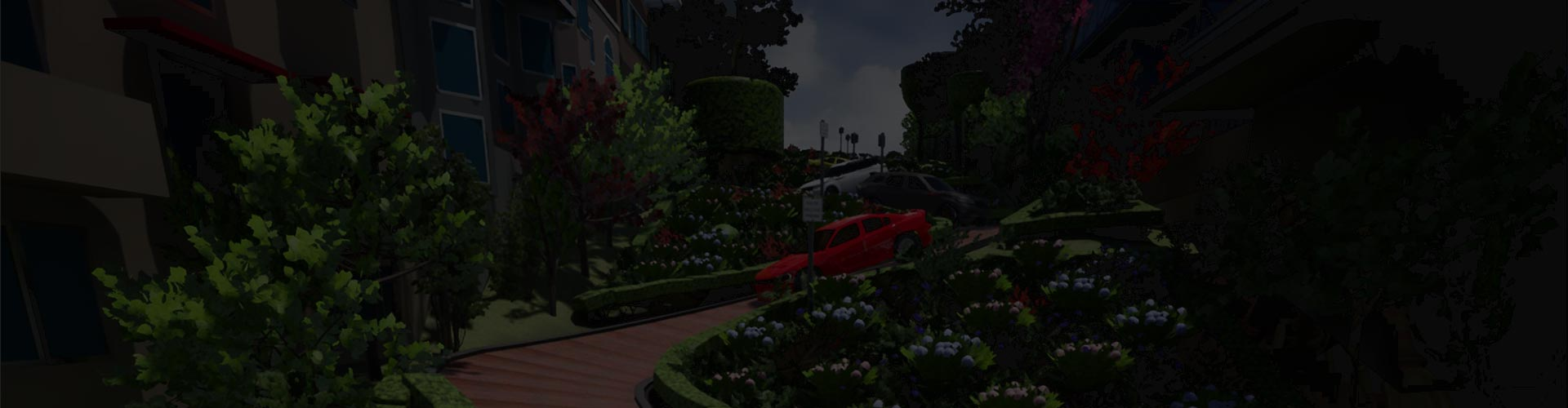 3D Visualization Level called 3D Lombard Street for 3D Visualization Company