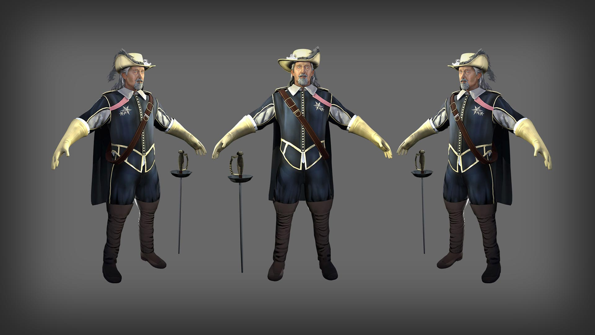 3D Characters for 3D Game Art Outsourcing and External Game Development