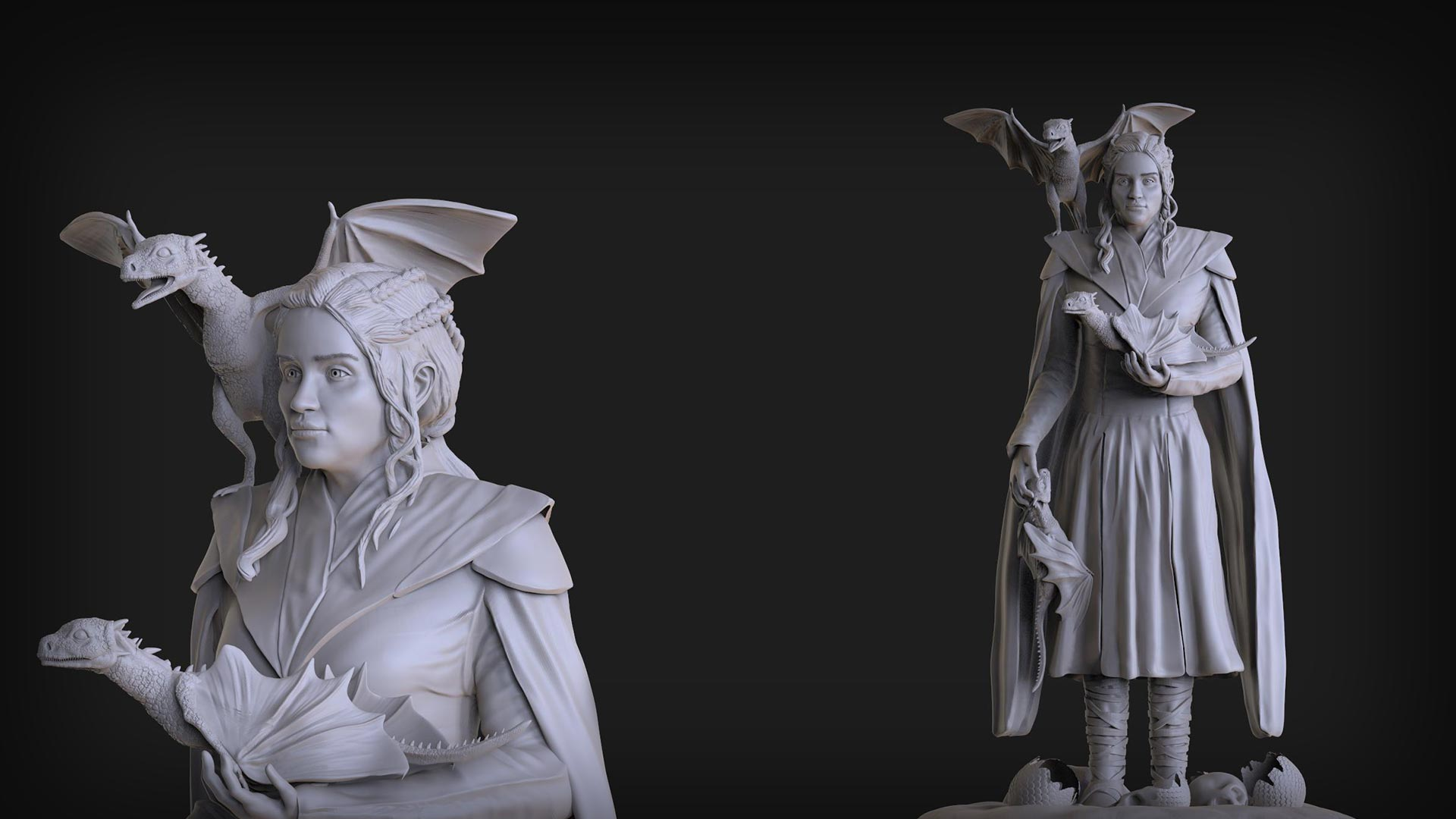 3D Sculpt for 3D Game Art Outsourcing and External Game Development