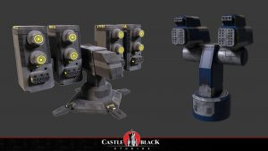 3D Sci-fi Weapons Assets for Game Development Company